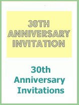 30th anniversary invitations