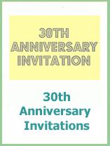 printable 30th wedding anniversary invitations