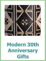 modern 30 year anniversary gifts