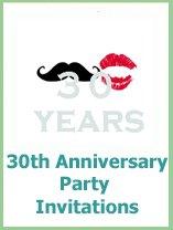 30th anniversary invitations