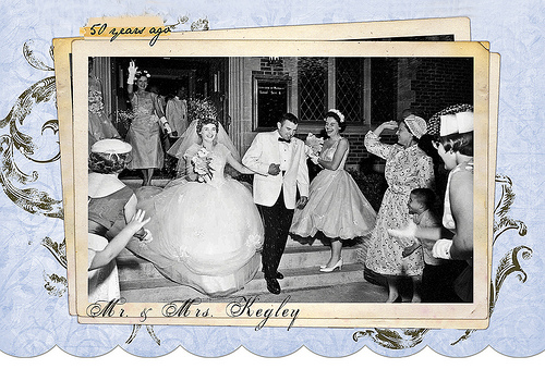 50th anniversary photo invitations