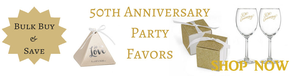buy 50th anniversary party favors