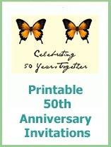 50th wedding anniversay invitations