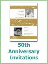 printable 50th wedding anniversary invitations