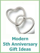 modern 5th anniversary gift ideas
