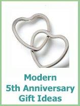 modern 5th wedding anniversary gift ideas
