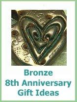 bronze anniversary gift ideas