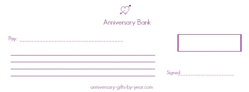 anniversary love checks