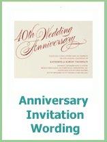 annivesary invitation wording