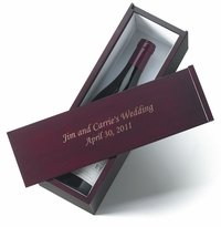 personalized anniversary wine box