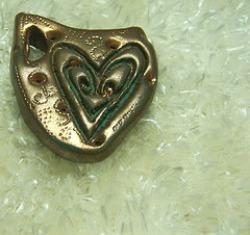 bronze heart