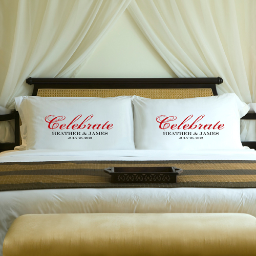 celebrate Anniversary pillowcases