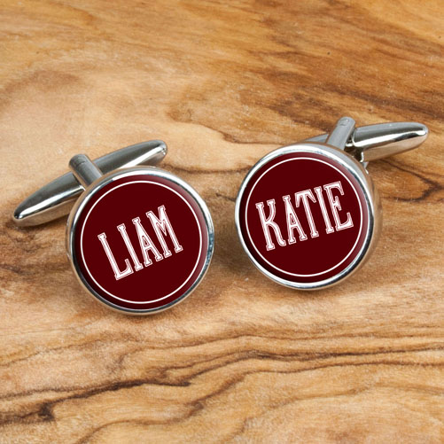 personalized ruby anniversary cufflinks