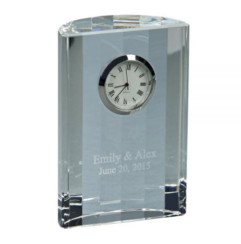 personalized crystal anniversary clock
