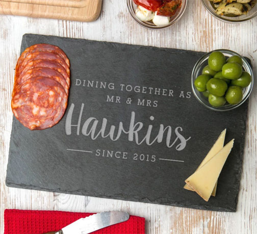 slate sharing board personalized