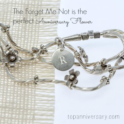 forget me not silver bracelet