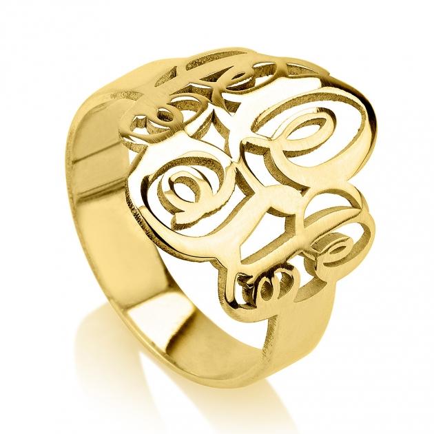 Couples monogram anniversary ring