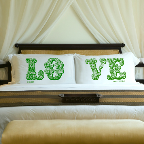 personalized couples pillows