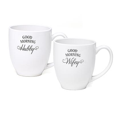 hubby and wifey coffee mugs