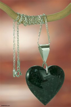 jade heart pendant for 35th anniversary