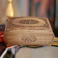 handcrafted wooden jewelry box