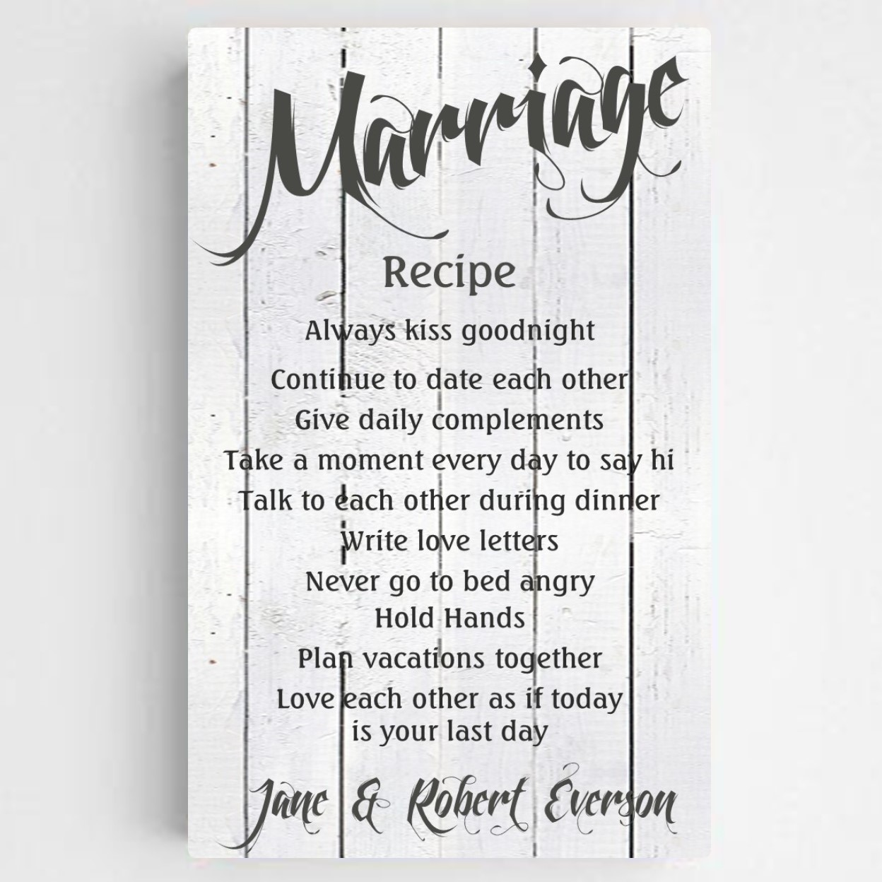 personalized happy marriage canvas
