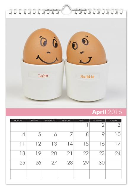 personalized wedding anniversary calendar