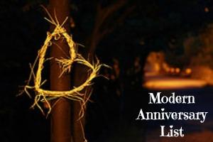 modern anniversary gift list