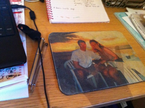 personalized couples mousepad