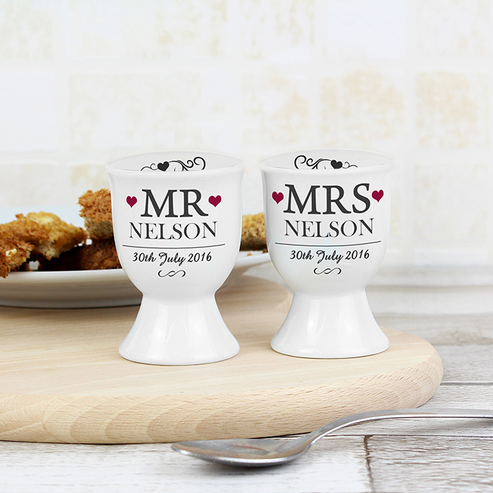 personalized Anniversary egg cups