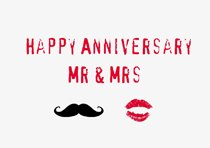 happy anniversary mr and mrs card