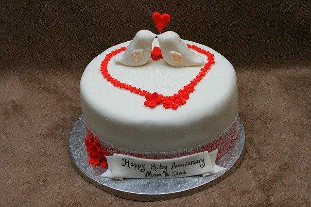parents 40th anniversary cake