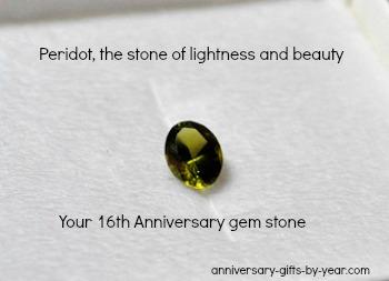 peridot anniversary stone