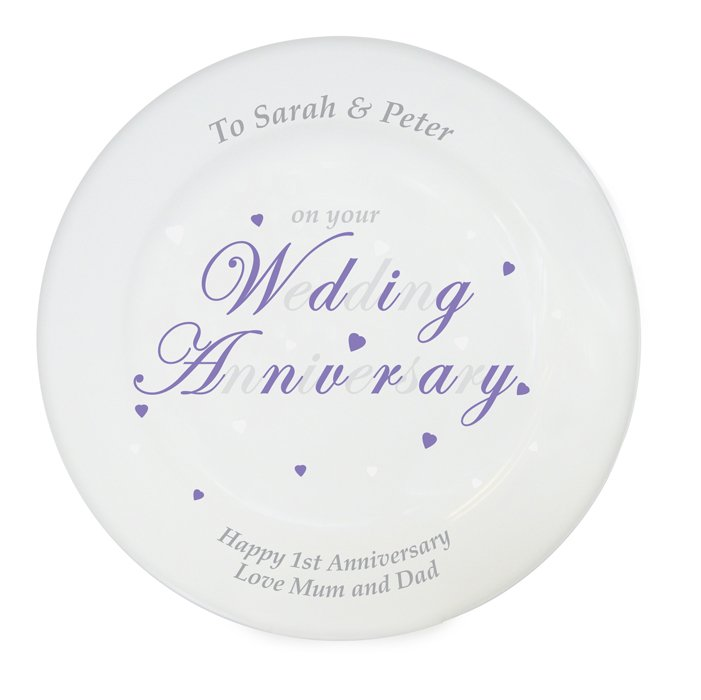 personalized Anniversary year plate
