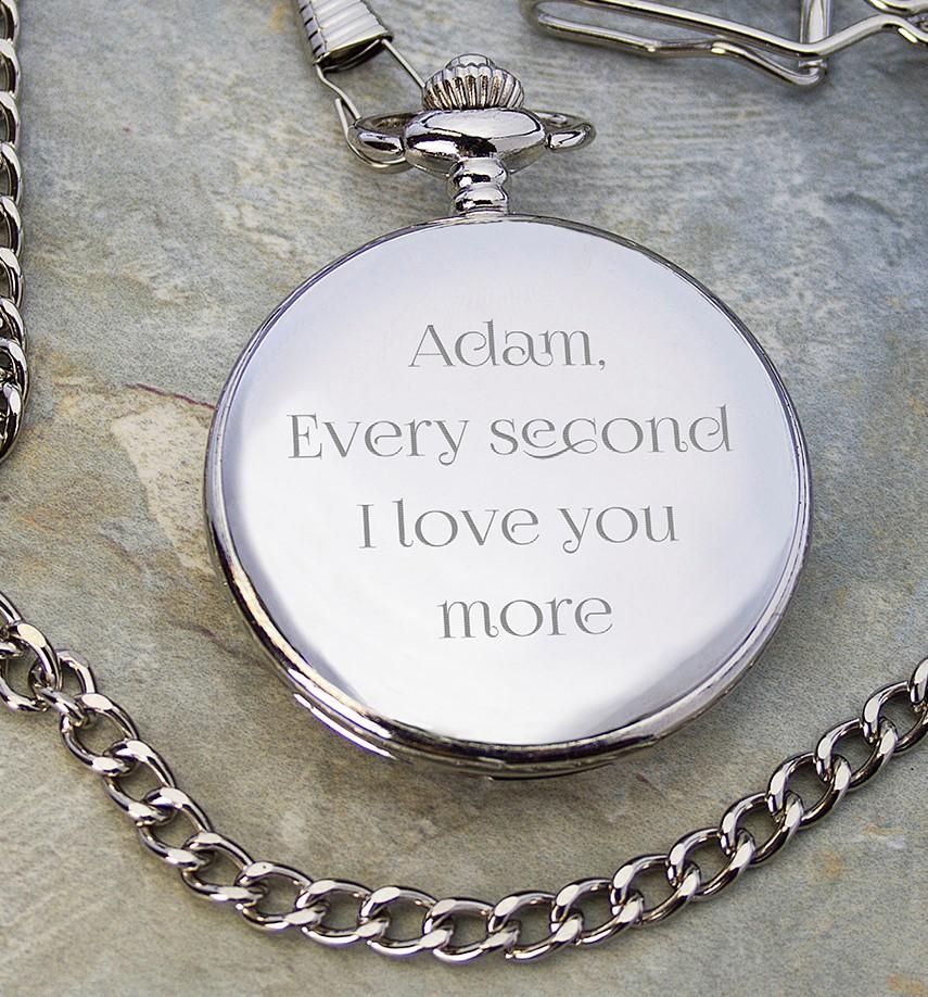 engraved anniversary pocket watch