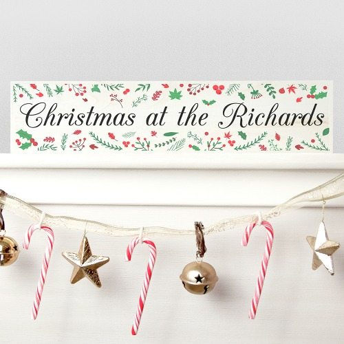 personalized Christmas family sign
