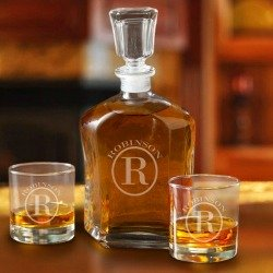 personalized whisky decanter