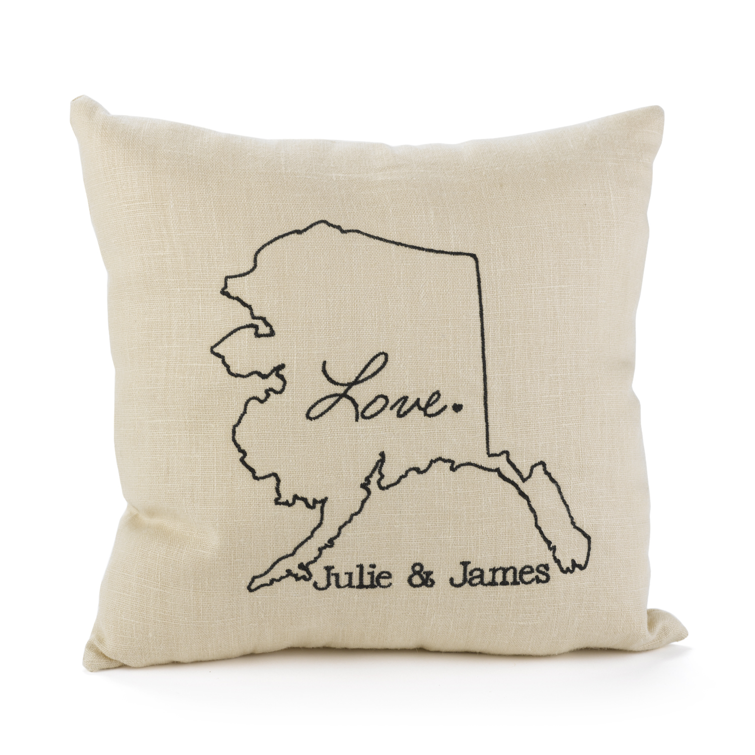 personalized couples pillow