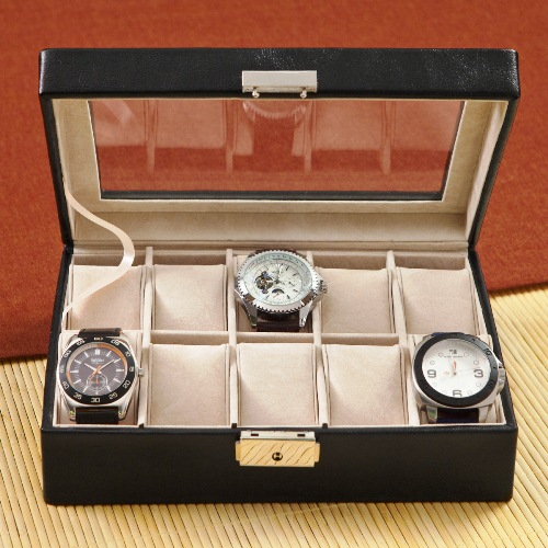 15th anniversary engraved watch case