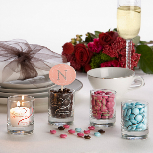 personalized candle wedding anniversary favors