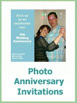 photo wedding anniversary invitations