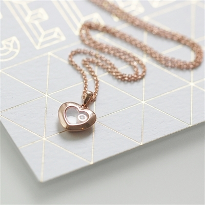 rose gold and diamond necklace