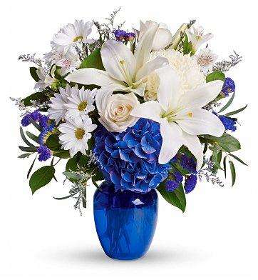 sapphire blue anniversary flowers