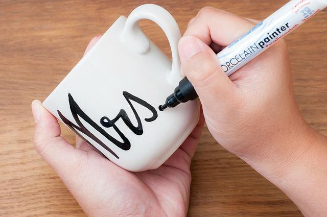 homemade anniversary mug