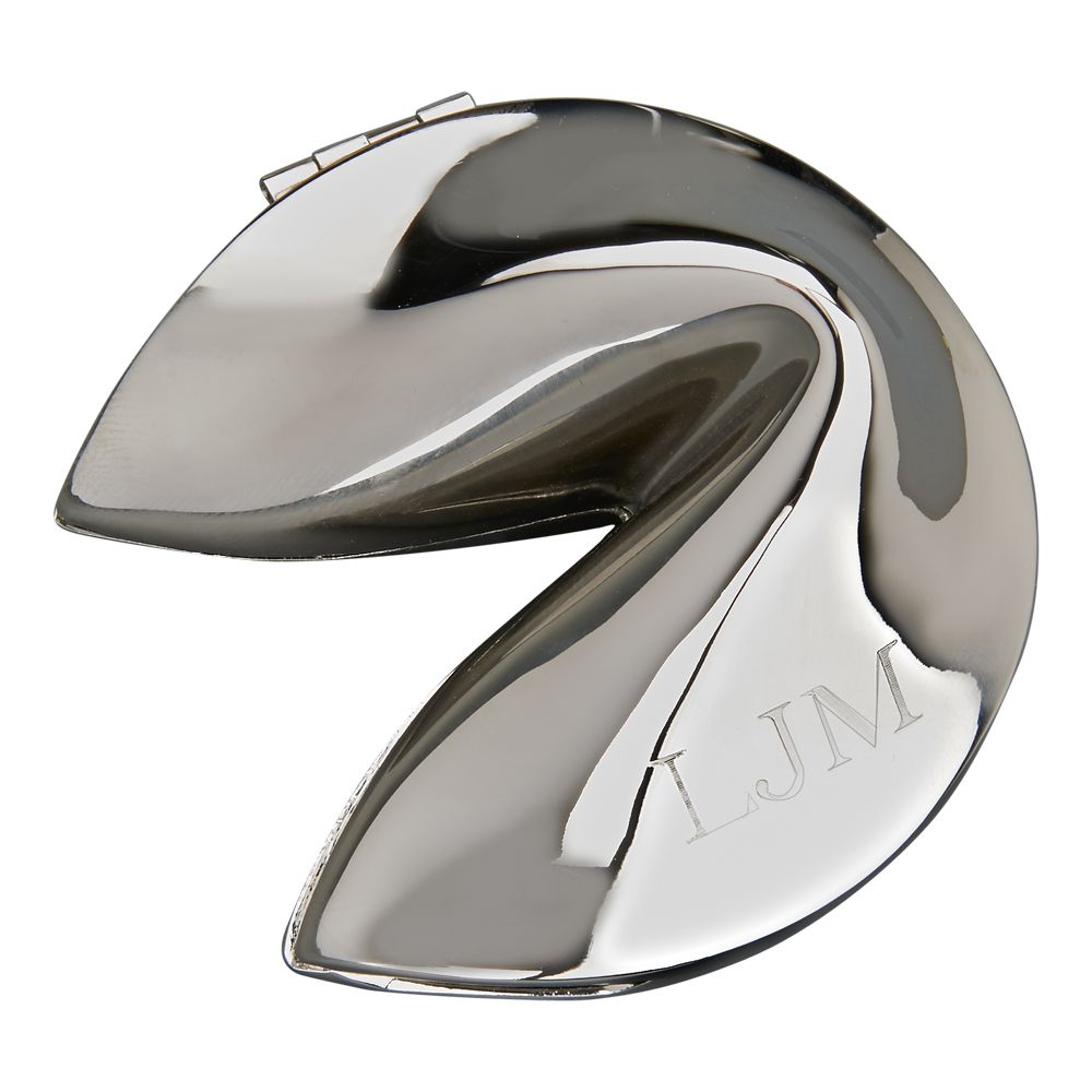 personalized silver fortune cookie