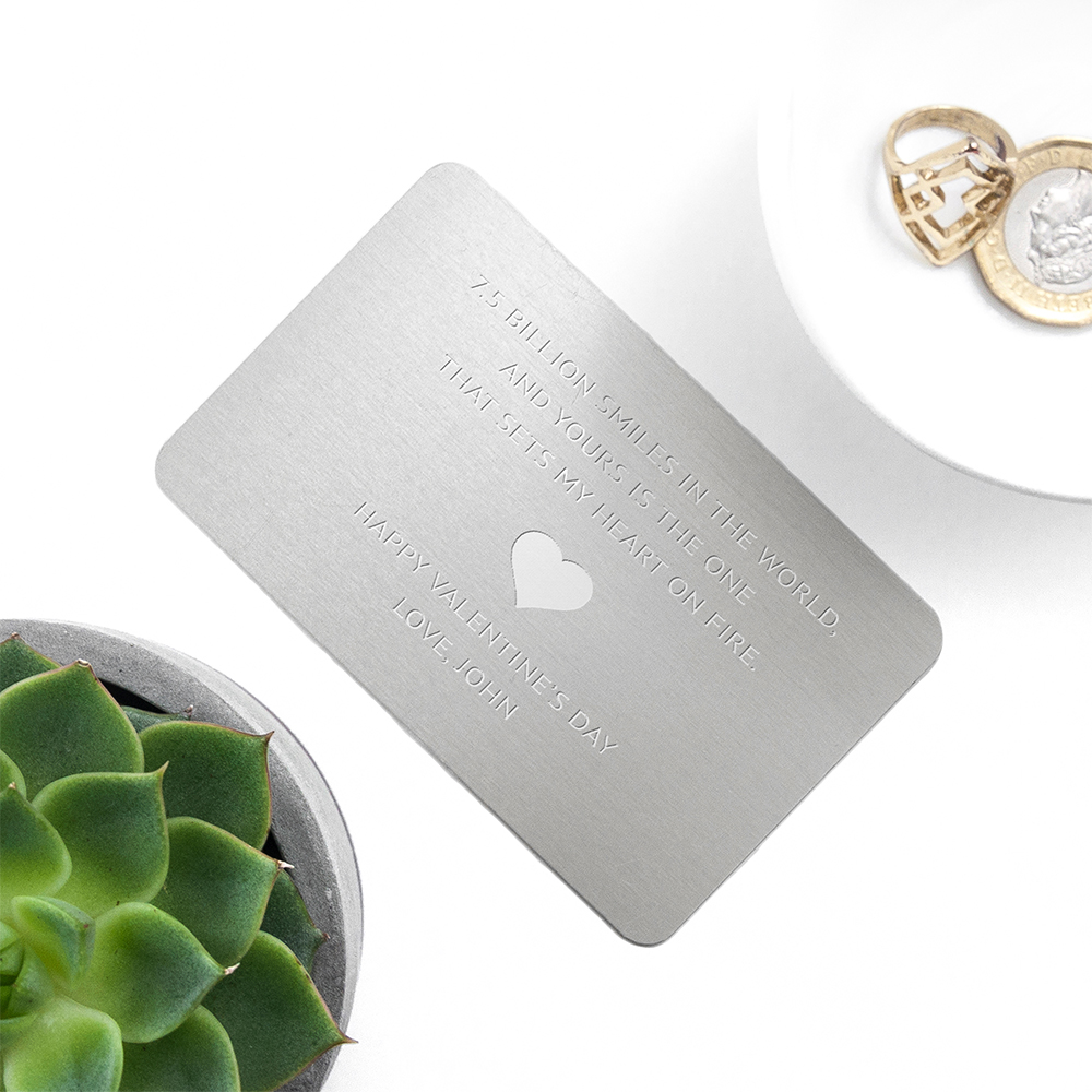 Personalized Metal Love Note