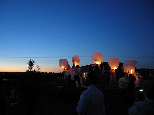 sky lanterns for 1st anniversary