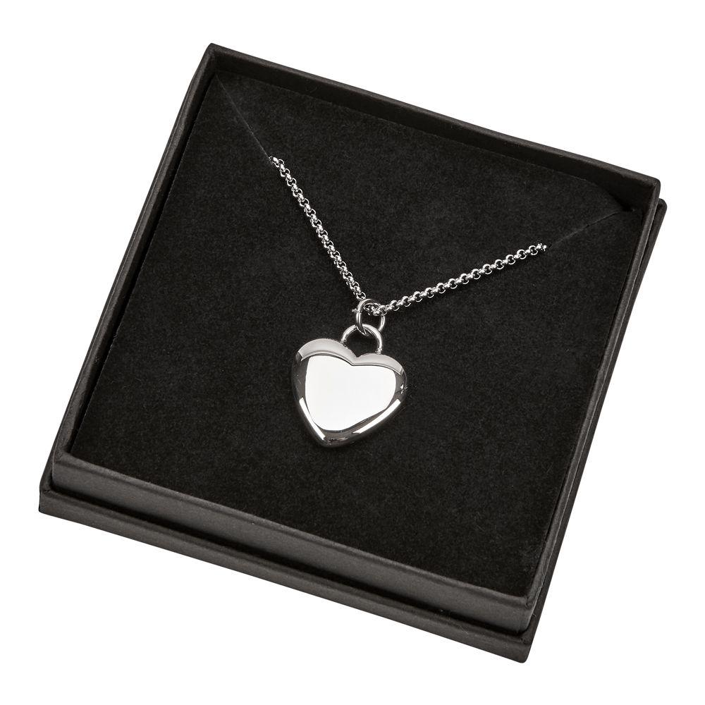 steel anniversary heart pendant