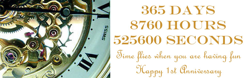 1st anniversary present clocks