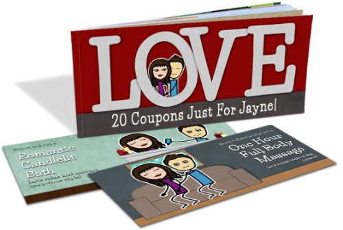 anniversary gift while deployed - love coupons
